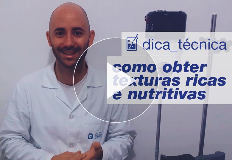[ vídeo ] Como obter texturas ricas e nutritivas em formulações e criar produtos super-hidratantes