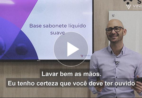 [ vídeo ] Formulação gratuita: sabonete líquido para limpeza das mãos
